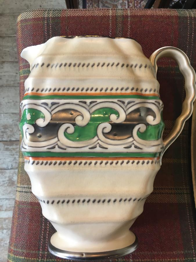 Charlotte Rhead Green Chain Water Jug