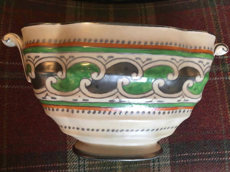 Charlotte Rhead Green Chain Vase