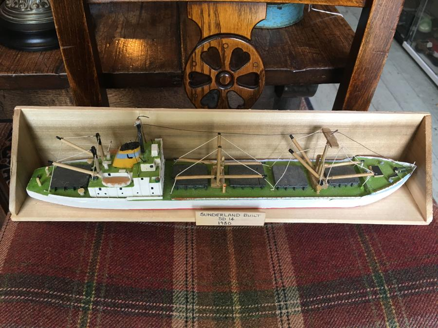 Scratch Built Model Of A Fishing Boat