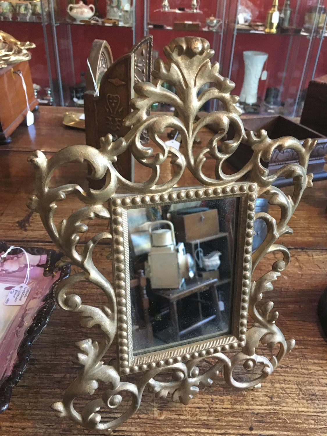 French Antique Mirror With Gilt Frame