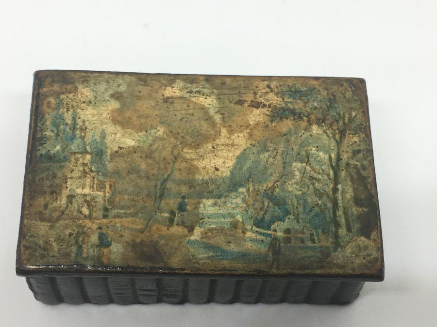 Georgian Painted Snuff Box