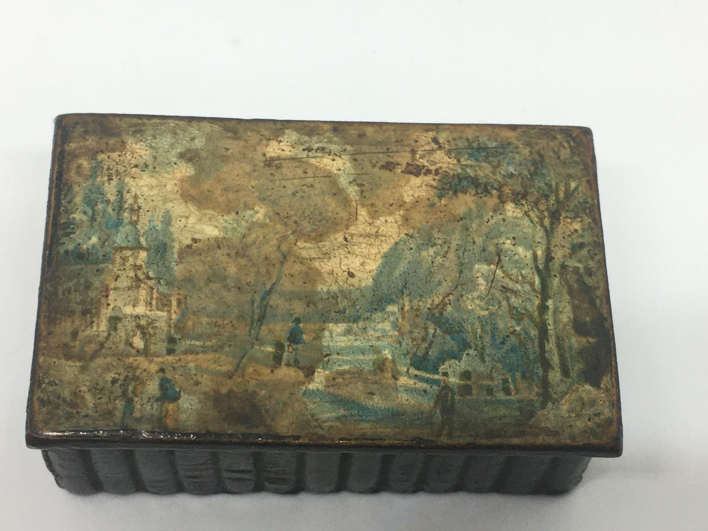 Georgian Painted Snuff Box