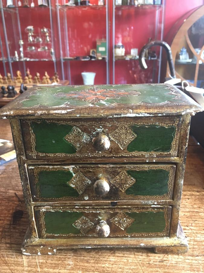 Miniature Set Of Florentine Style Drawers