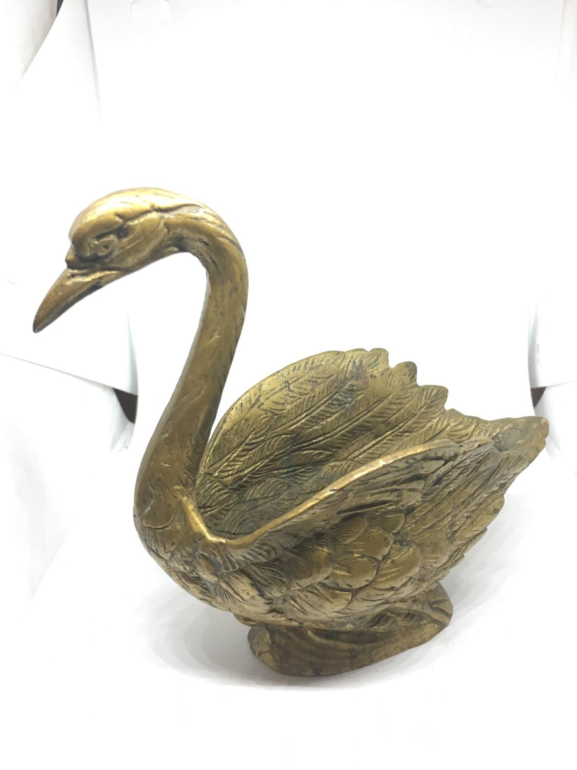 French Bronze Vide Poche Swan