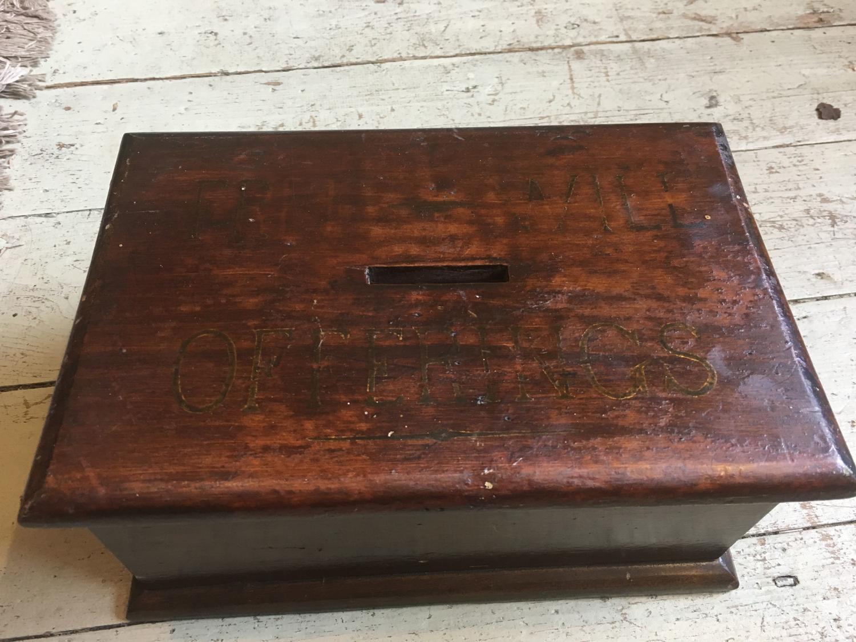 Antique Church Collection Box