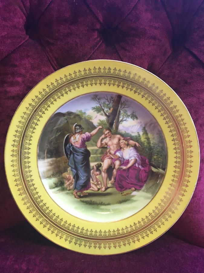 Antique Vienna Cabinet Plate by Angelica Kauffmann
