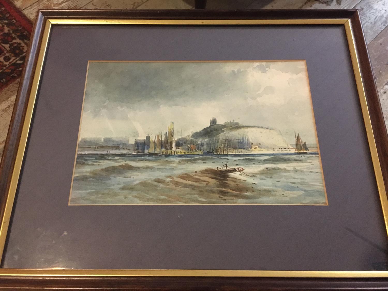 Framed Watercolour Of A Coastal Scene
