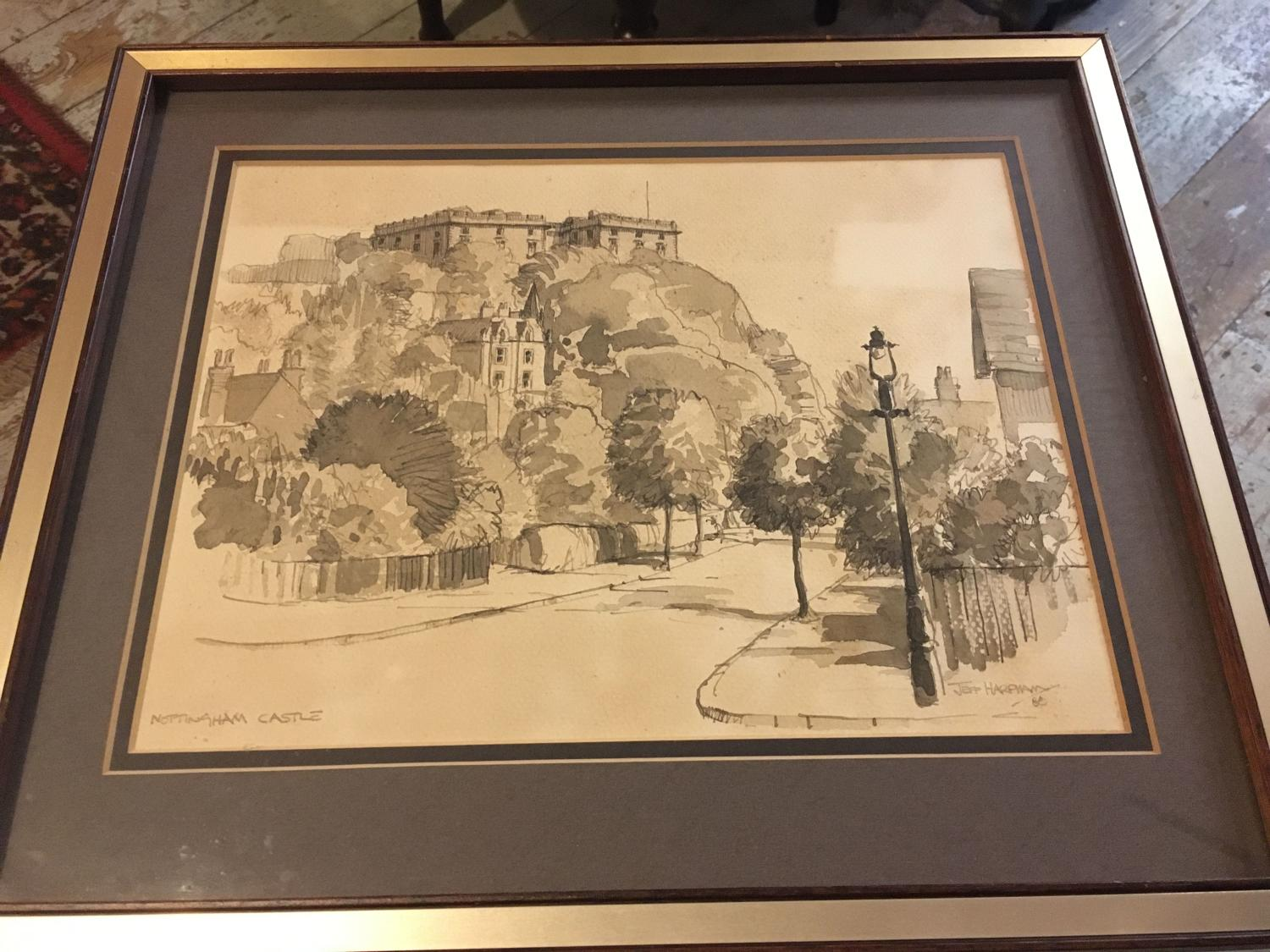 Framed Watercolour By Jeff Harpham