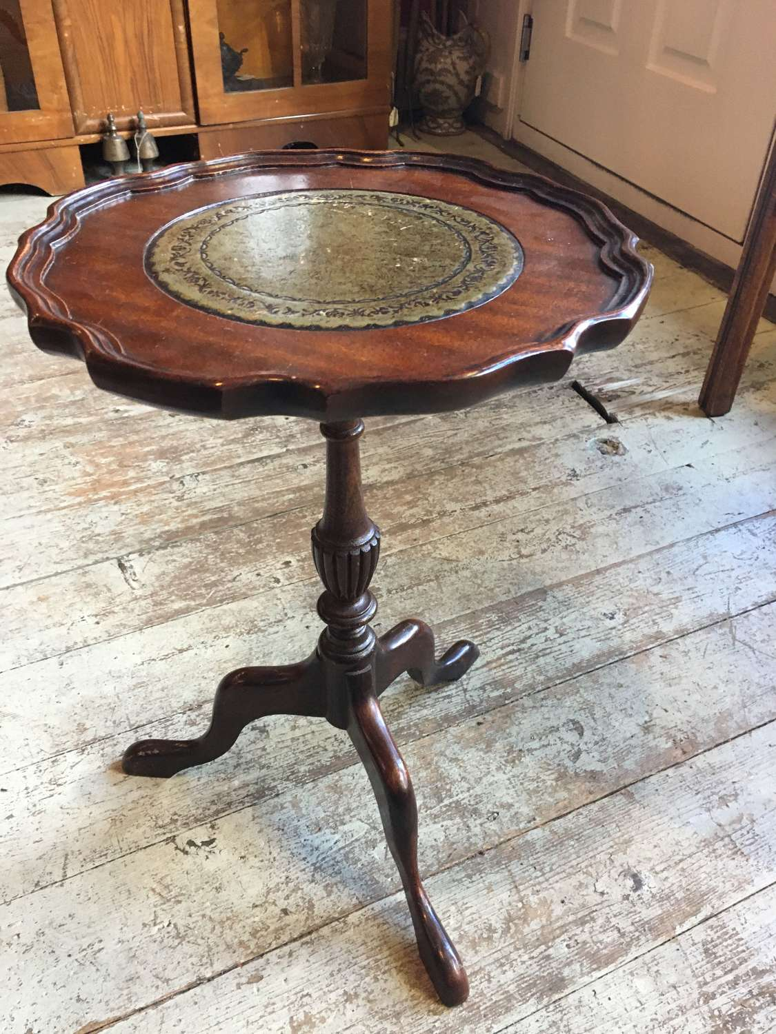 Leather Topped Wine Table
