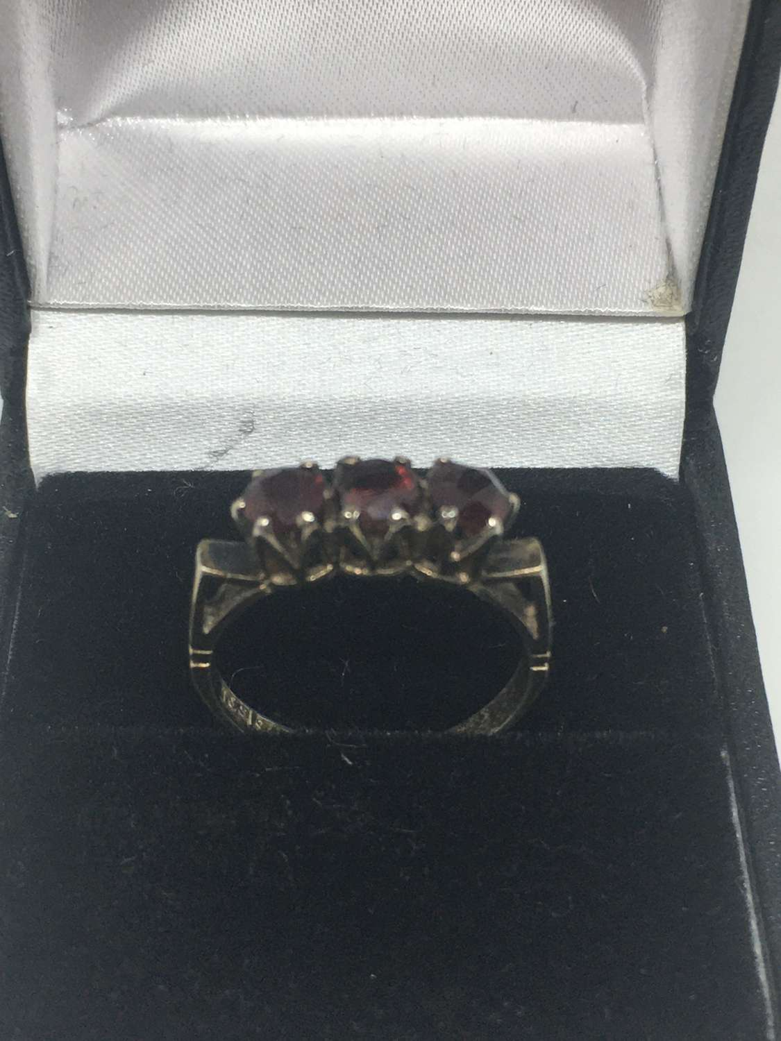 Solid Silver & Garnet Ring