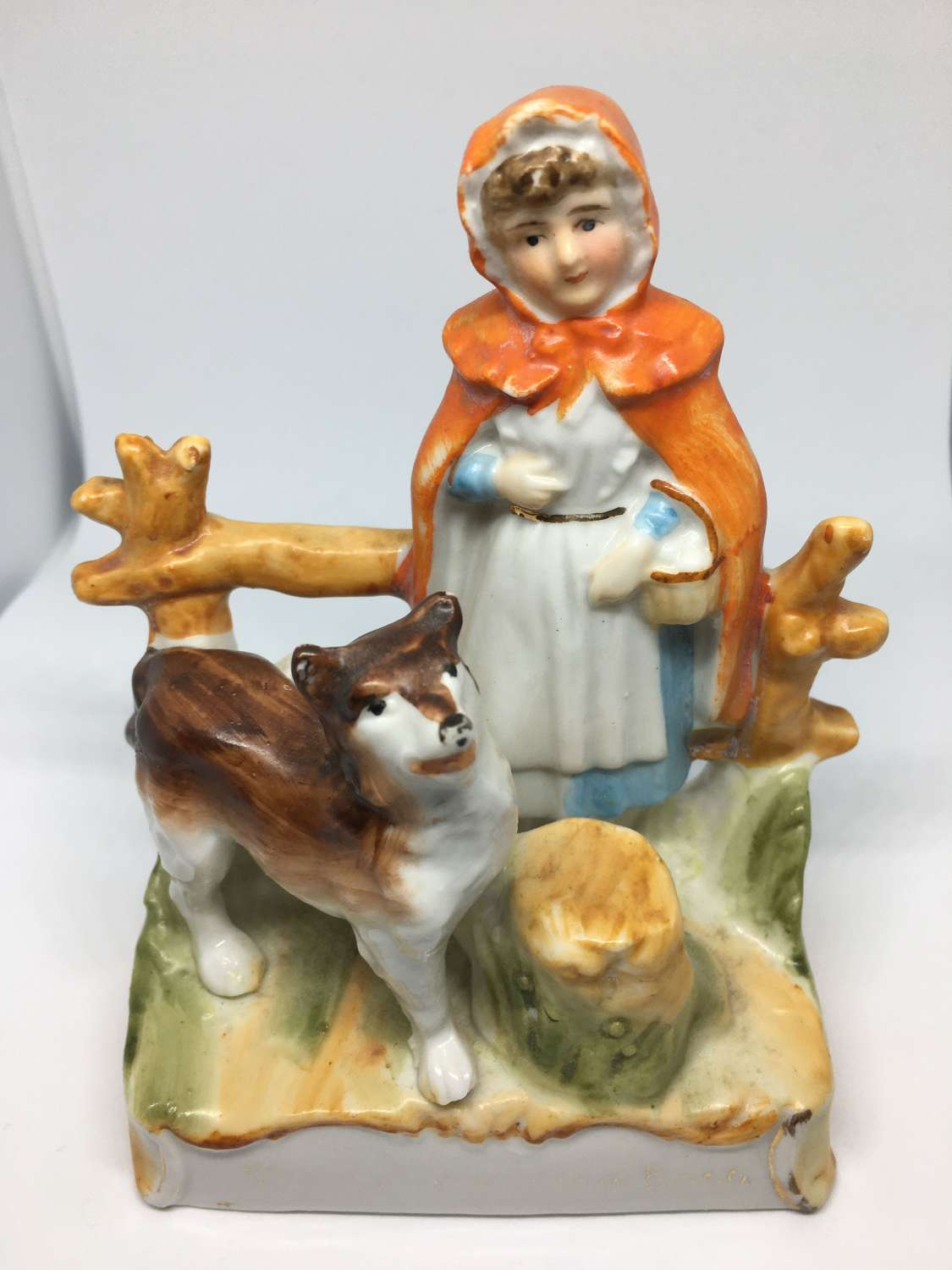 Ceramic Figure Of Little Red Riding Hood