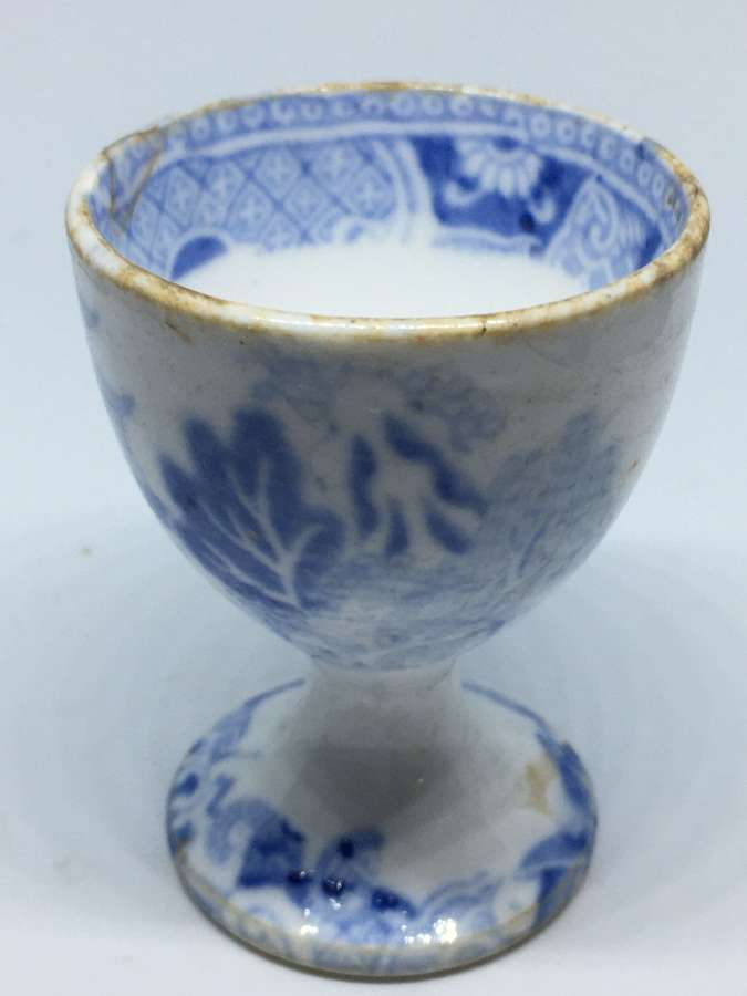 Broseley Pattern 19th Century Egg Cup