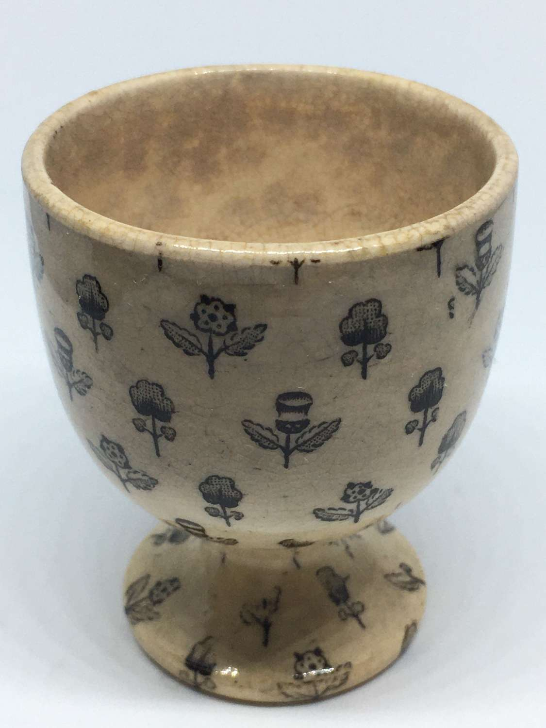 Early 19th Century Block Printed Egg Cup