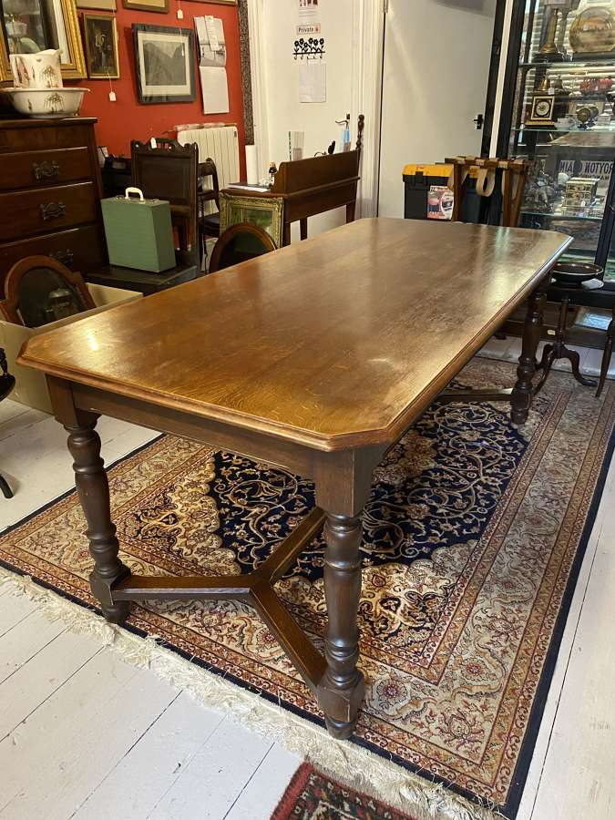 Nice Quality Oak Refectory Table