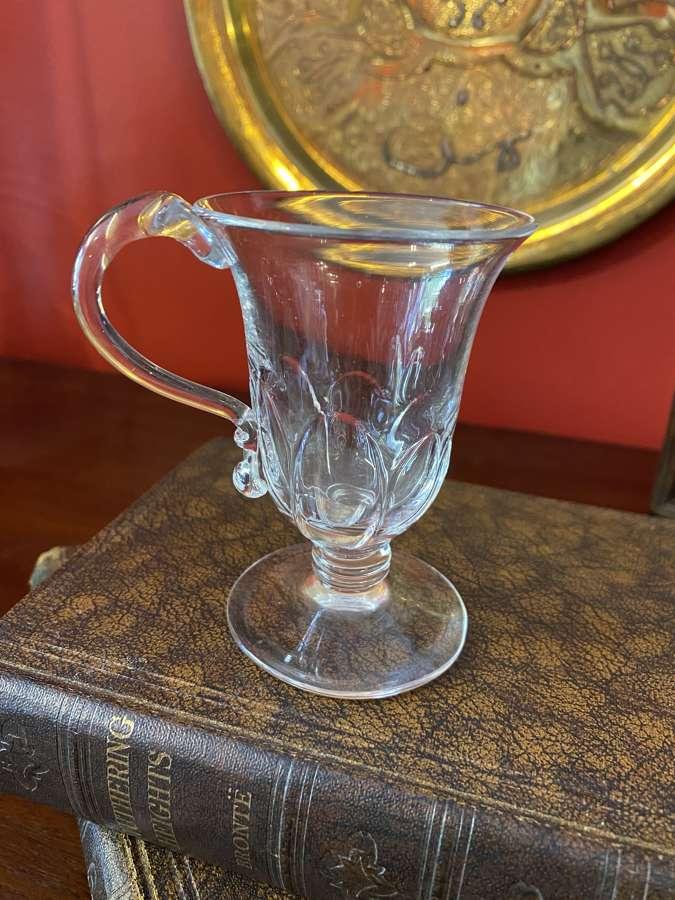 Georgian Rib Mounted Custard Glass