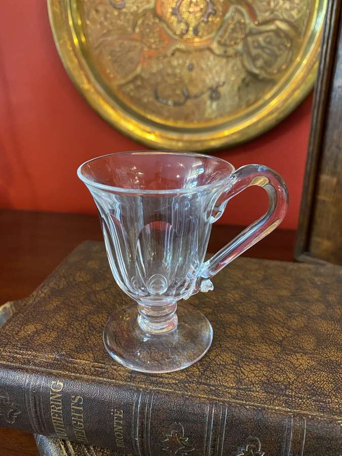 Georgian petal Moulded Custard Glass