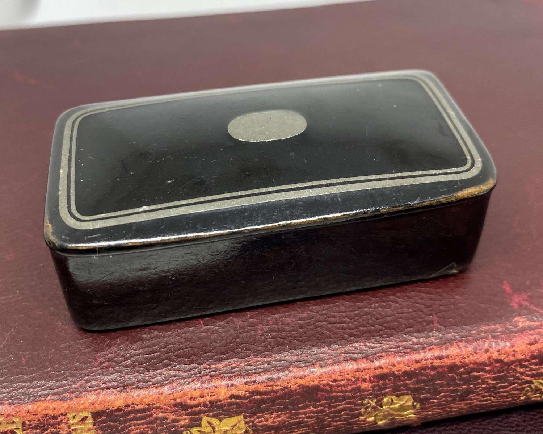 Victorian Papier Mache Snuff Box