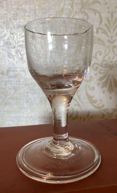 George II Dram Glass c1740