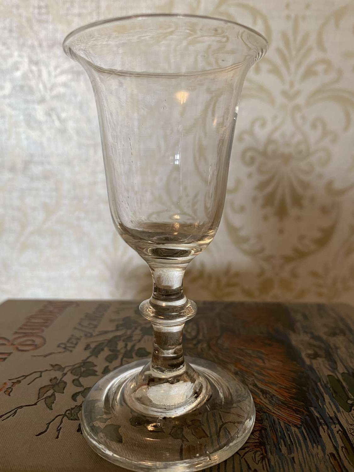 George II Wine Glass With Bell Shaped Bowl