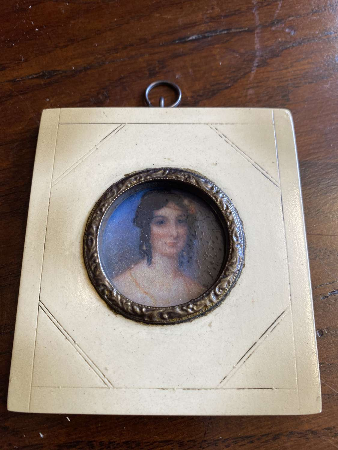 Weston Portrait Miniature Of Lady