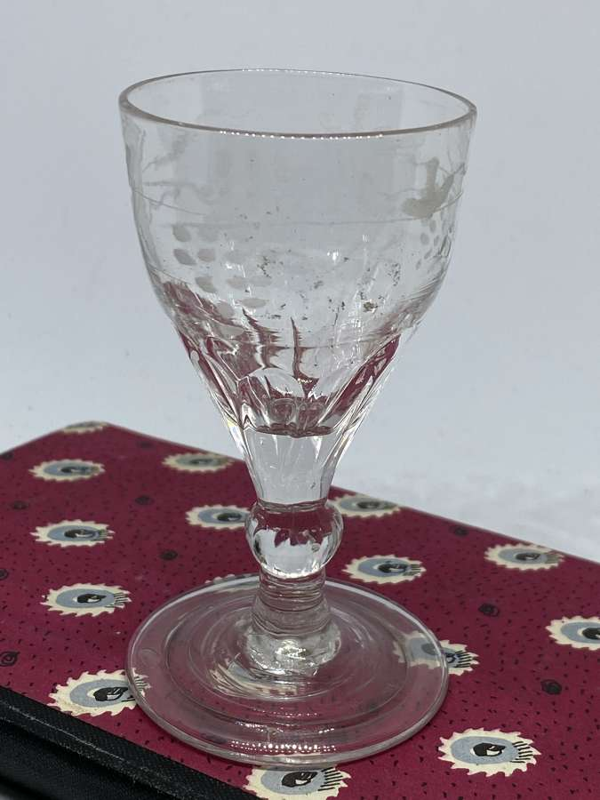 Small Georgian Port Glass c1780