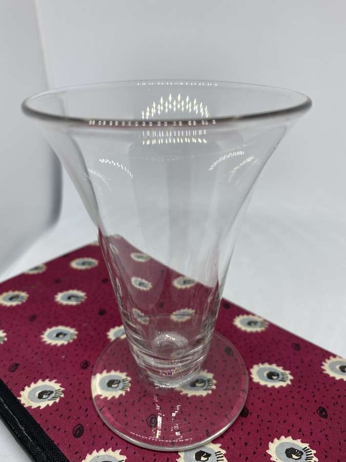 Early Victorian Trumpet Shaped Bowl Wine Glass