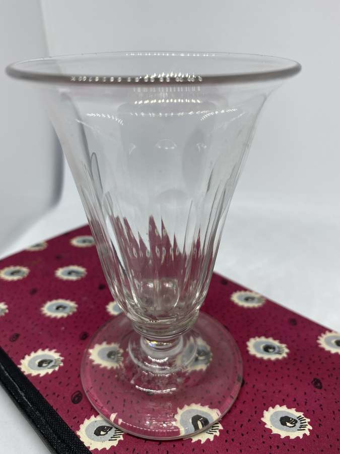 Early Victorian Fluted Wine Glass