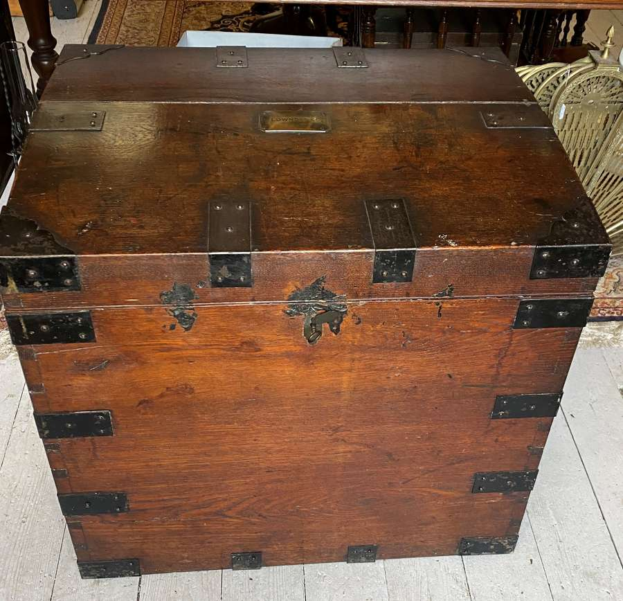 Antique Campaign Silver Trunk