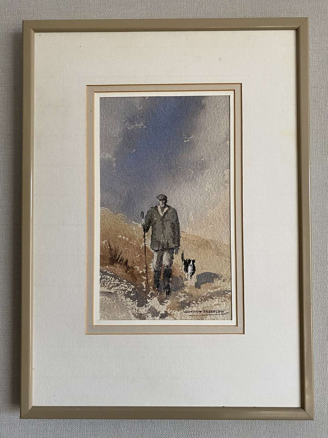 Framed Donald Crossley Watercolour