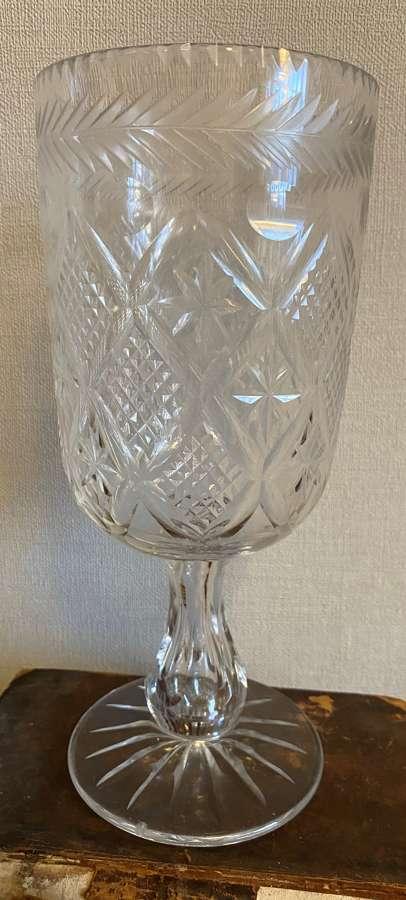 Quality Victorian Cut Crystal Celery Vase