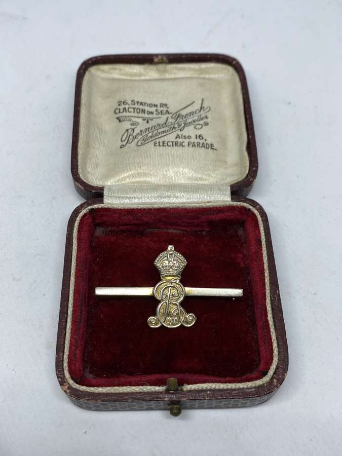 King Edward VII Silver Bar Brooch