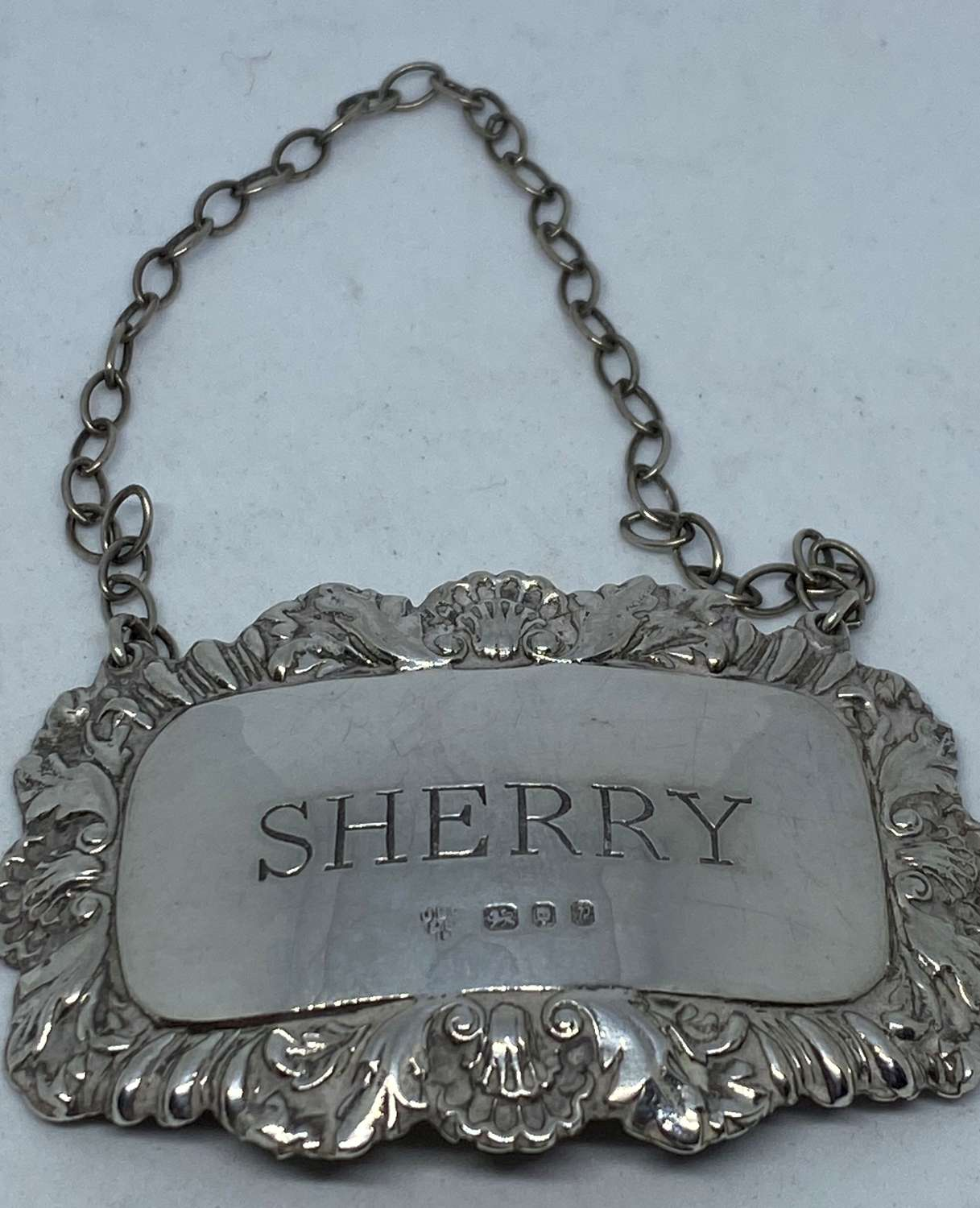Silver Sherry Decanter Label
