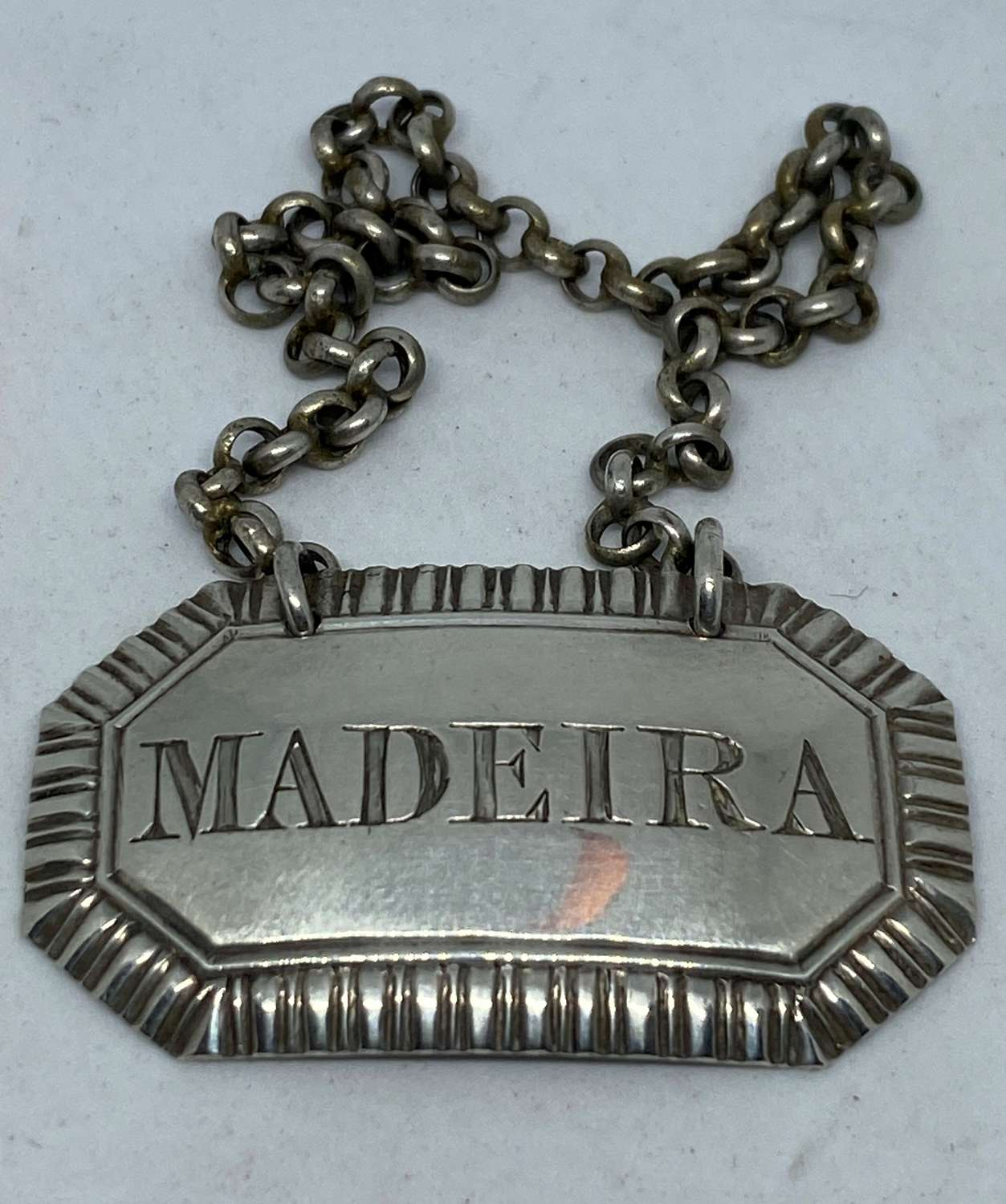 Late Georgian Silver Decanter Label - Madeira