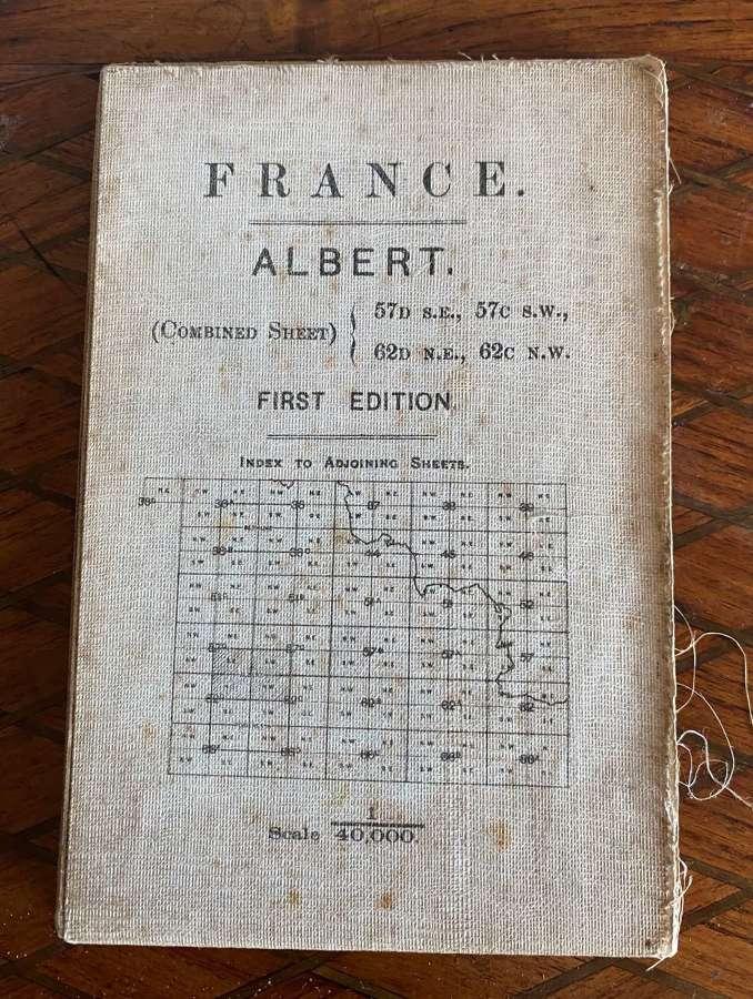 WW1 War Office Fabric Map - Albert 1915