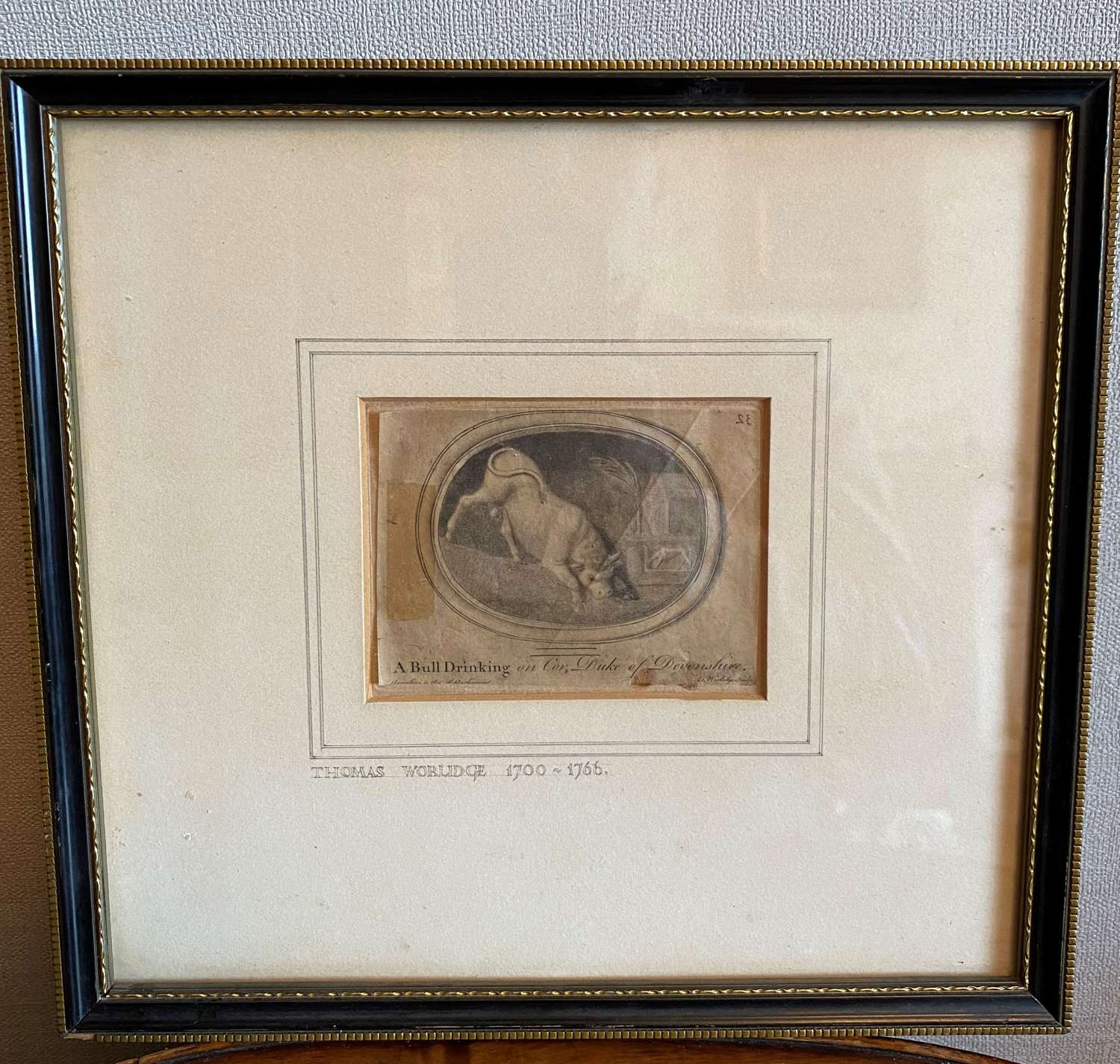 Etching By Thomas Worlidge (1700-66) From Chatsworth House