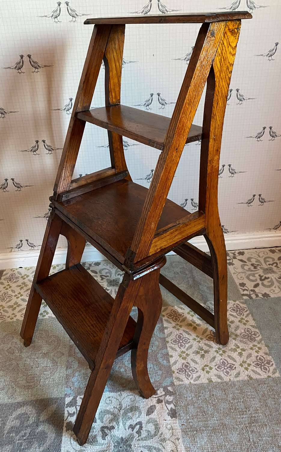 Antique Metamorphic Library Steps/Chair