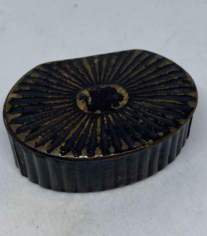 Early Victorian Papier Mache Snuff Box
