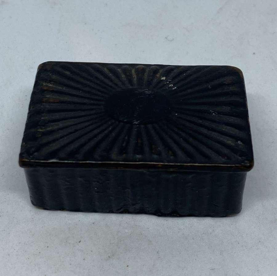 Late Georgian Papier Mache Snuff Box