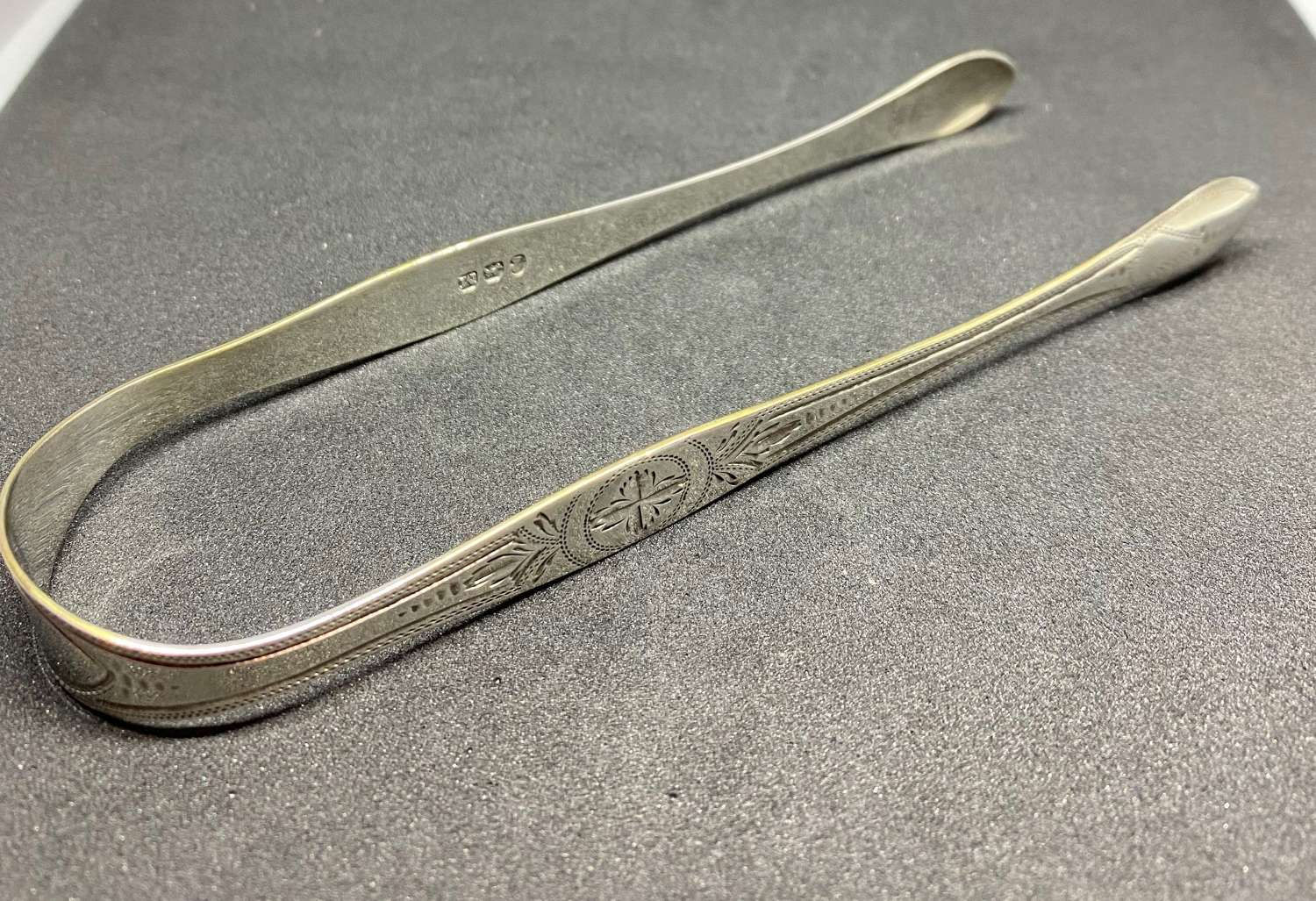 Solid Silver Georgian Sugar Tongs 1807 Peter & William Bateman