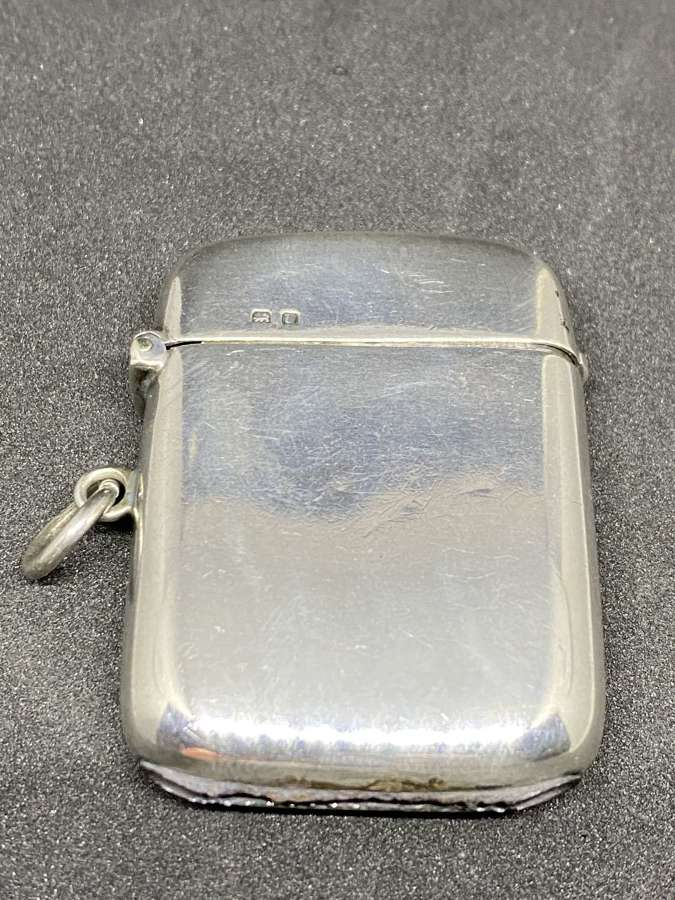 Solid Silver Vesta Case