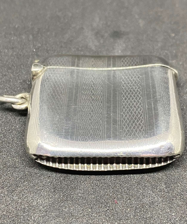 Solid Silver Vesta Case Birmingham 1929