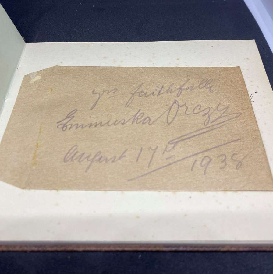 Genuine Autograph Of Baroness Orczy - Scarlet Pimpernel Author