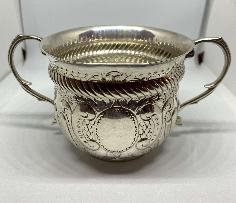 Victorian Solid Silver Porringer