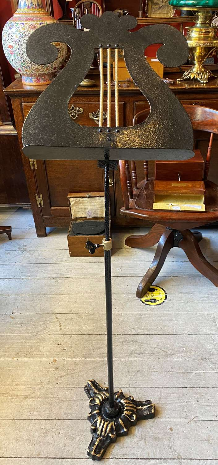 Cast Iron Lyre Music Stand