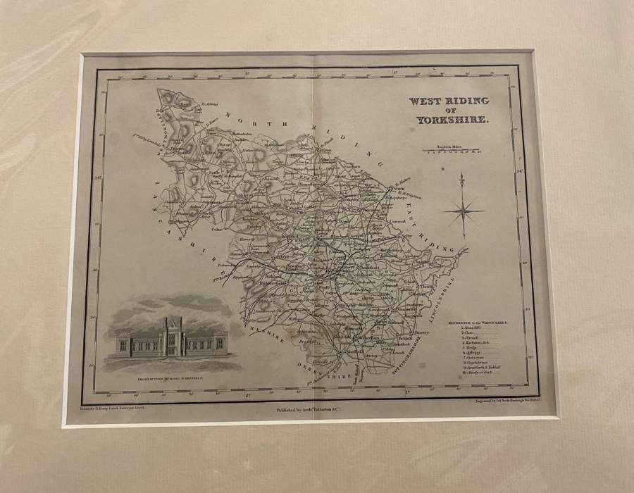 Antique Map West Riding Of Yorkshire 1848