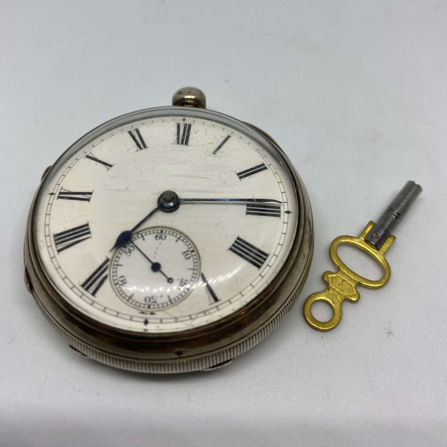 Silver Fusee Pocket Watch Chester 1891
