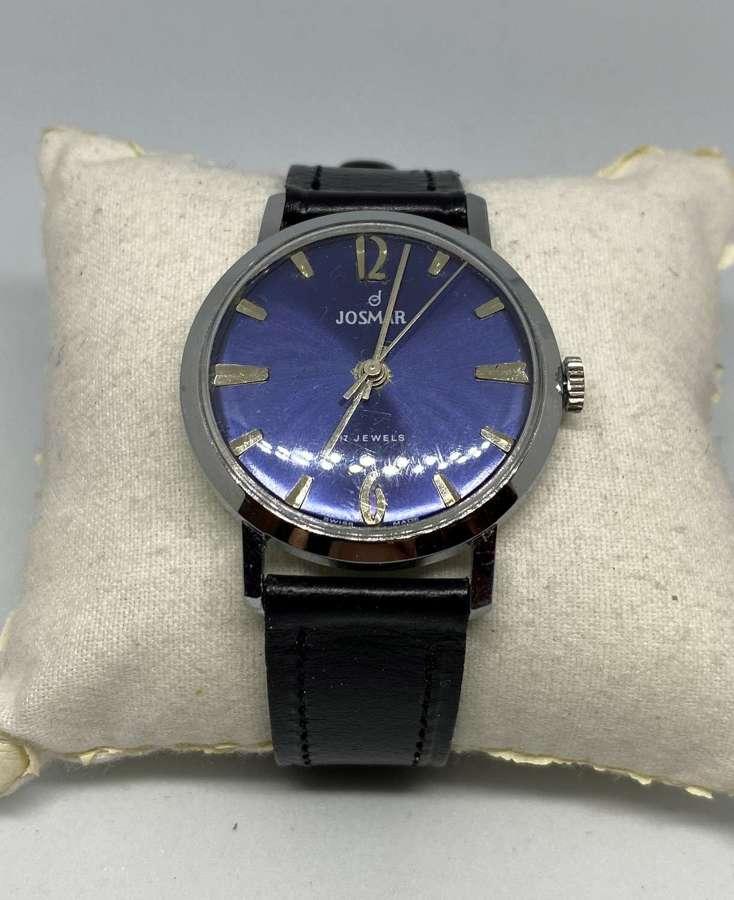 Vintage Josmar 17 Jewels Gent's Wrist Watch
