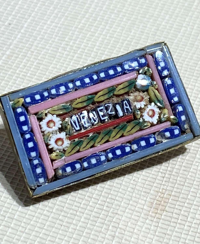 Victorian Micro Mosaic Brooch Venezia