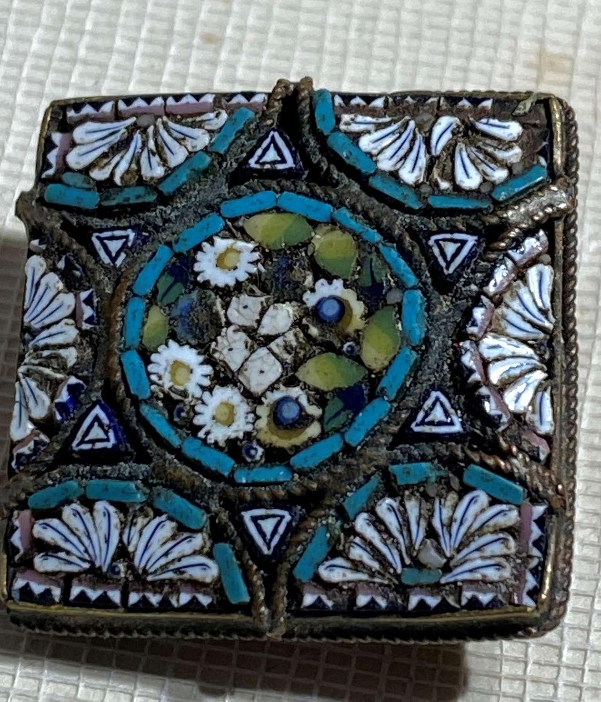 Antique Italian Micro Mosaic Brooch