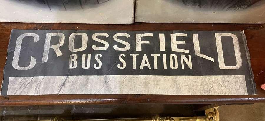 Vintage Bus/Tram Destination Blind